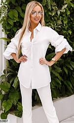 Рубашка-блузка женская белая 63807