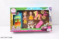 Кукла маленькая 012-1A-UC с куколкой, машинкой, велосипедом, пони, собачкой, в кор. 37,5*22*7с