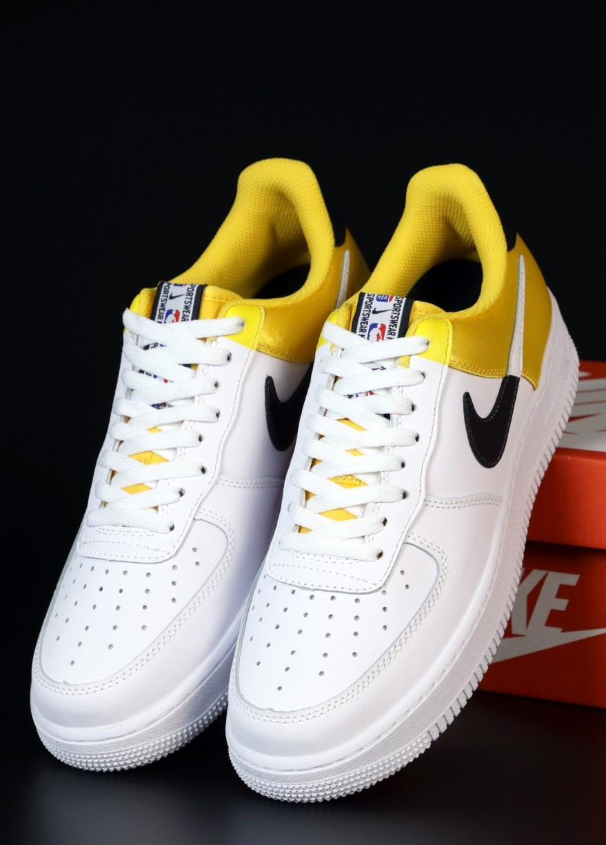 Мужские кроссовки Nike Air Force 1 Low White, Yellow