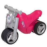 Детский мотоцикл каталка Девичий стиль Big 56362 ролоцикл + накладки на обувь (дитячий мотоцикл)