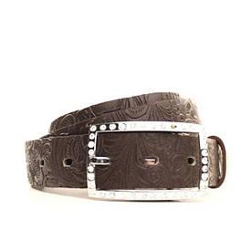 Ремень Lazar кожаный коричневый L30S0W2 105-115 см