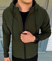 Куртка Мужская Весенняя Puma Soft Shell Мужские Куртки Флисовые Стильные Хаки