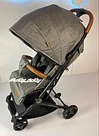 Прогулочная коляска JOY C легкая 7,4кг ручка-чемодан, Серый