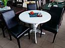 Стіл Анжеліка обідній розкладний дерев'яний 90(+38)*90 венге, фото 6