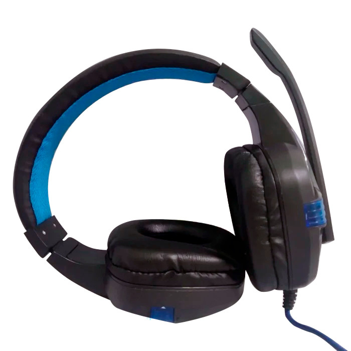 Игровые проводные наушники SY850 с микрофоном ( Синие)
