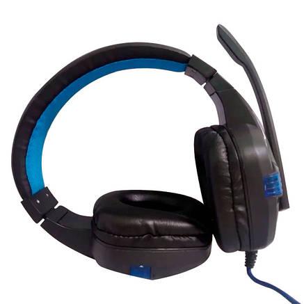 Игровые проводные наушники SY850 с микрофоном ( Синие), фото 2