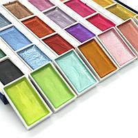 Набор для рисования. Краски  акварельные с перламутром ( металлик) 24 цвета