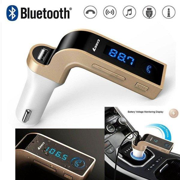 Автомобильный FM трансмиттер модулятор Car G7 Bluetooth Gold