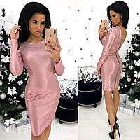Красивое блестящее платье с молнией на спине