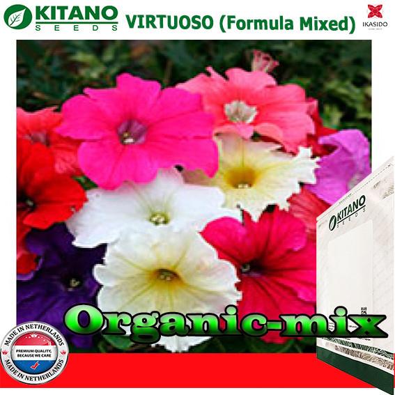 Петуния крупноцветковая Виртуоз Formula Mixed, 1000 семян, ТМ KITANO SEEDS (Голландия)