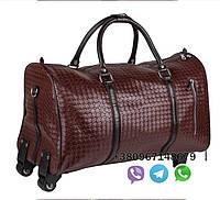 Дорожная кожаная сумка на колесах, женская сумка на колесах, мужская сумка на колесиках