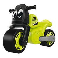 Детский мотоцикл каталка Racing Bike Big 56328 ролоцикл + накладки на обувь для детей