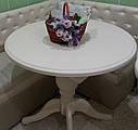 Стол Анжелика обеденный раскладной деревянный 90(+38)*90 бежевый, фото 3