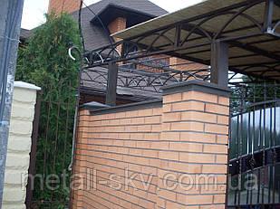 Парапеты на забор на 125 мм.глянец