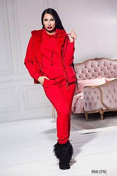 Стильний костюм теплий трійка жіночий 950 (75)