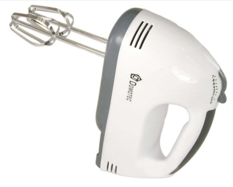 Миксер ручной с насадками для взбивания и для теста Domotec MS-1333 Белый