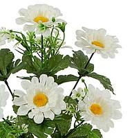 Искусственные цветы оптом букет ромашка мохнатая декор, 32см