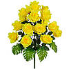 Цветы искусственные, букет розы с монстерой, 64см