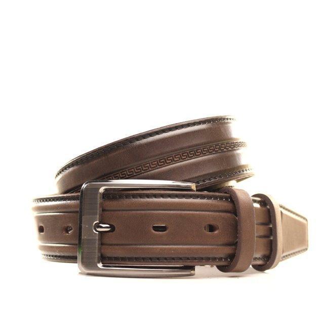 Ремень Lazar кожаный коричневый L35Y1W3 105-115 см