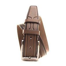 Ремень Lazar кожаный коричневый L35Y1W3 105-115 см, фото 2