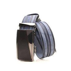 Ремень Lazar кожаный голубой L35Y1A31 105-115 см, фото 2