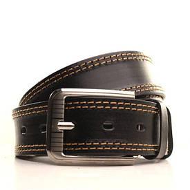Ремень Lazar кожаный черный-рыжий L40Y1W2 105-115 см
