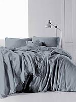 Комплект постельного Muslin белья SoundSleep Dark Grey Двуспальный евро комплект