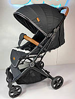 Прогулочная коляска JOY C легкая 7,4кг ручка-чемодан, Черный мат