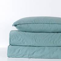 Комплект постельного белья SoundSleep Stonewash Adriatic pastel mint пастельно-мятное Двуспальный евро комплект