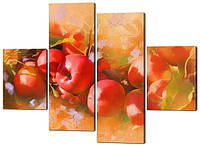 Модульная картина Натюрморт яблоки Код: W524
