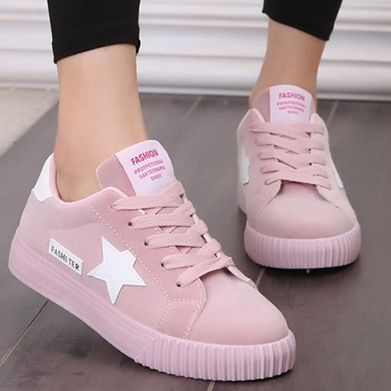 Стильные женские кроссовки с звездами, 35 - 40