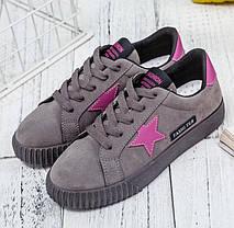 Стильные женские кроссовки с звездами, 35 - 40, фото 2
