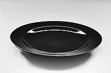 """Тарілка кругла чорна 12"""" плоска (30,5 см)"""