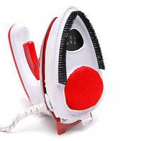 Отпариватель дорожный паровой утюг пароочиститель для одежды UKC 558-B  1000 Вт Красный, фото 1