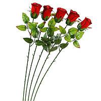 Роза искусственная на ножке, 65см