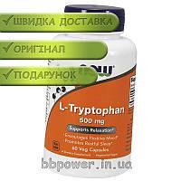 L-триптофан NOW L-Tryptophan 500 mg 60 капс