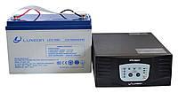 Комплект резервного питания ИБП Luxeon UPS-500ZY + АКБ LX12-100G 100Ah для 7-12ч работы газового котла, фото 1