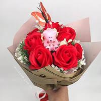 Мыльный букет, букет из мыльных роз, фото 1