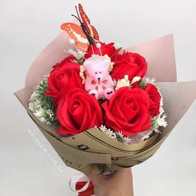 Мильна букет, букет з мильних троянд