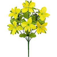Букет орхидейки атлас с пышной зеленью, 32см, фото 1