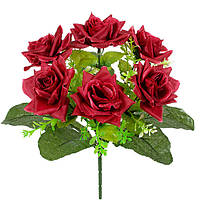 Букет невесты розы с подкустником, 26см, фото 1