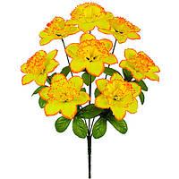 Искусственные цветы, букет нарцисса, 44см, фото 1