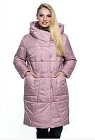 Женская куртка удобная стильная демисезонная большого размера 46-60 р пудра, черный, капучино