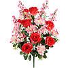 Букет композиция розы с гладиолусом и геранью, 69см