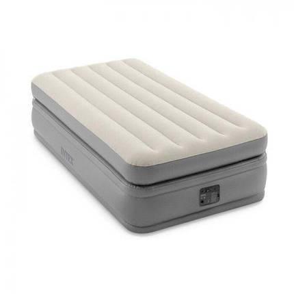 Надувная кровать Intex 64162 99х191х51 см встроенный насос односпальная, фото 2