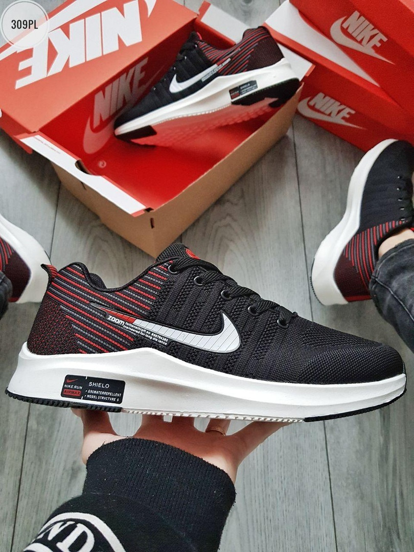 Мужские кроссовки Nike Zoom (черно-белые) 309PL