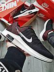 Чоловічі кросівки Nike Zoom (чорно-білі) 309PL, фото 2