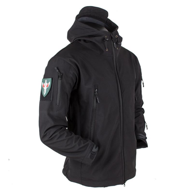 Тактическая куртка Soft Shell (Black) L
