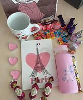 Оригинальный подарок девушке Валентинка Париж (розовая)