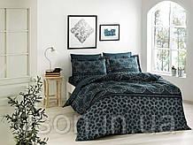 Комплект постельного  белья сатин tac digital семейный размер Lotus Petrol